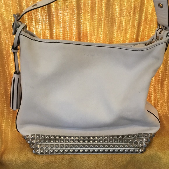 Coach Handbags - Coach Legacy studded duffle in white leather